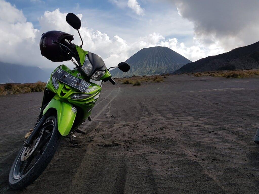 tour en scooter dans le parc du Mont Bromo, Indonésie