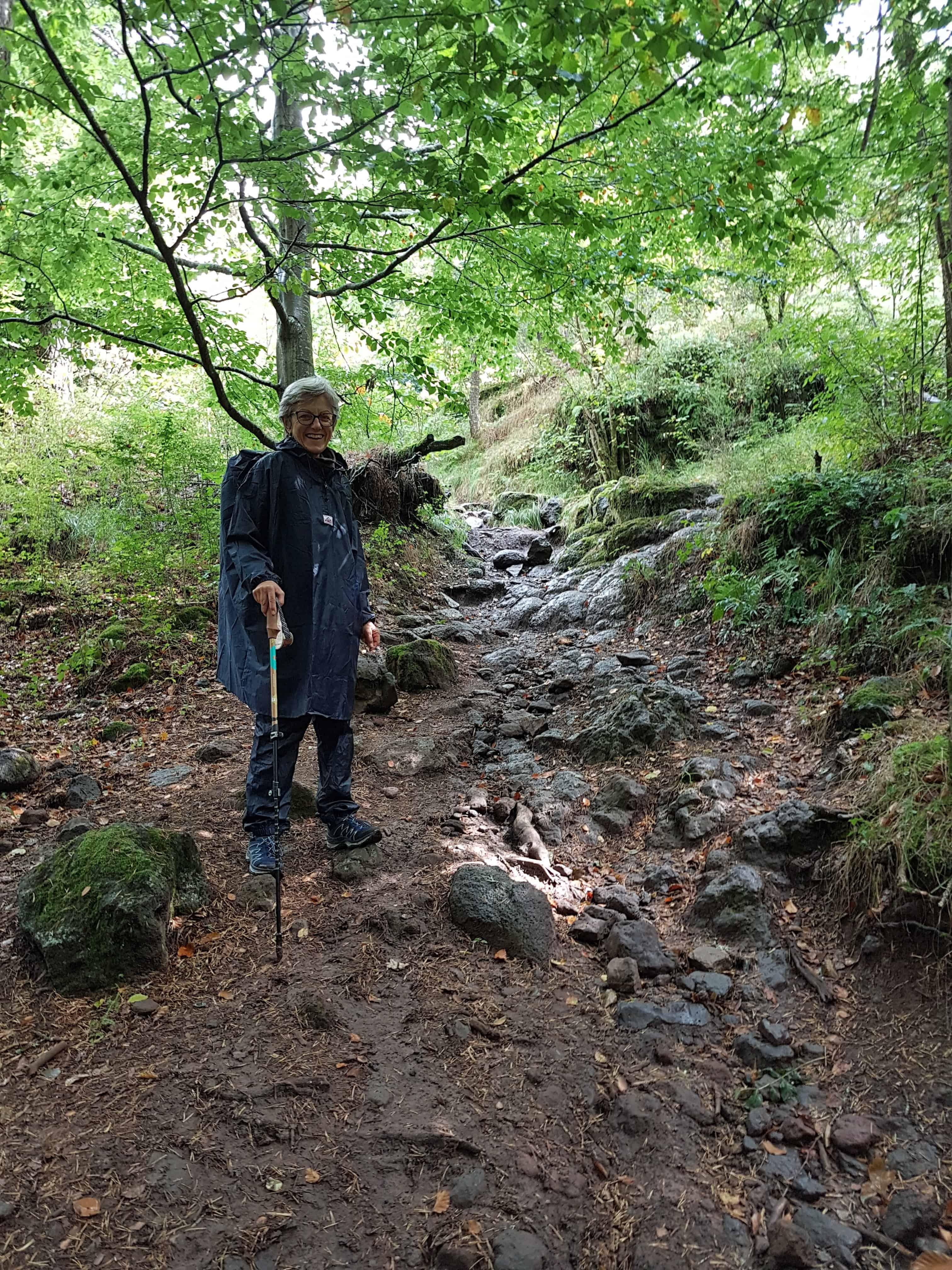 Chemin de Compostelle, poursuivi par la pluie jusqu'à Saint-Privat-d'Allier 🌧 10