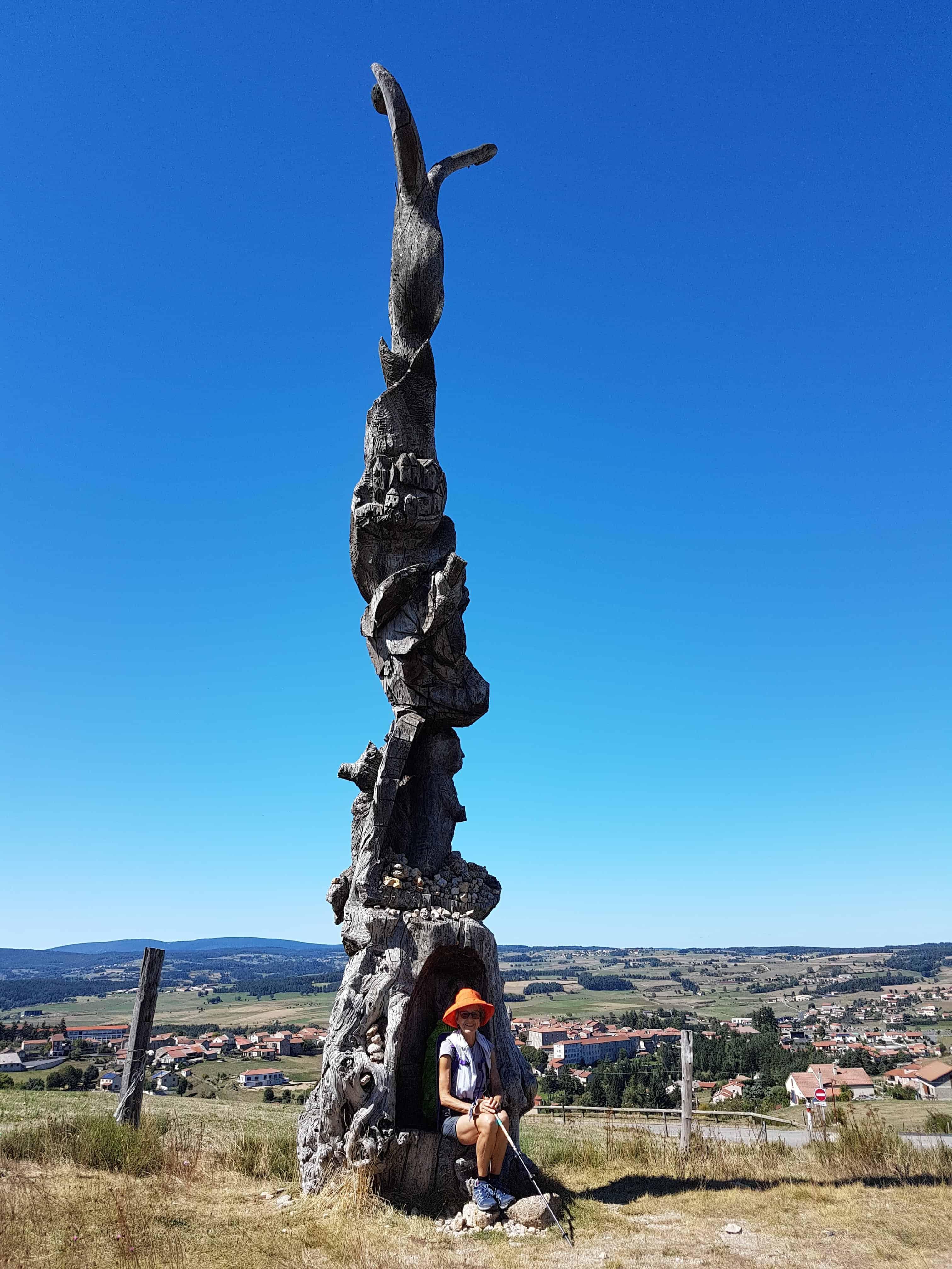 Chemin de Compostelle, au sommet de la Tour des Anglais de Saugues 🏰 12