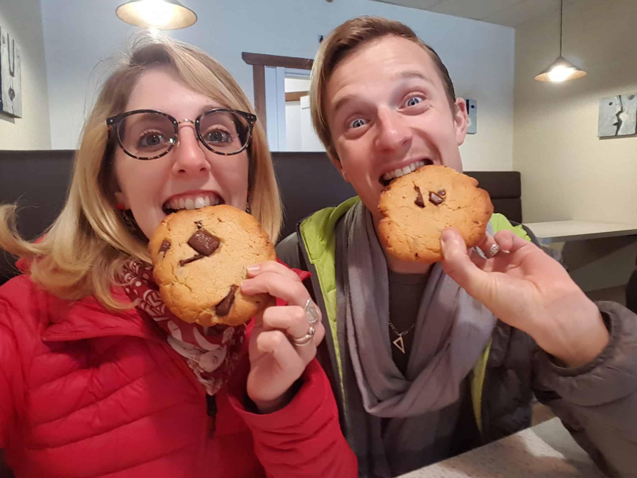 On mange des énormes cookies et ça nous rend heureux,Wanaka