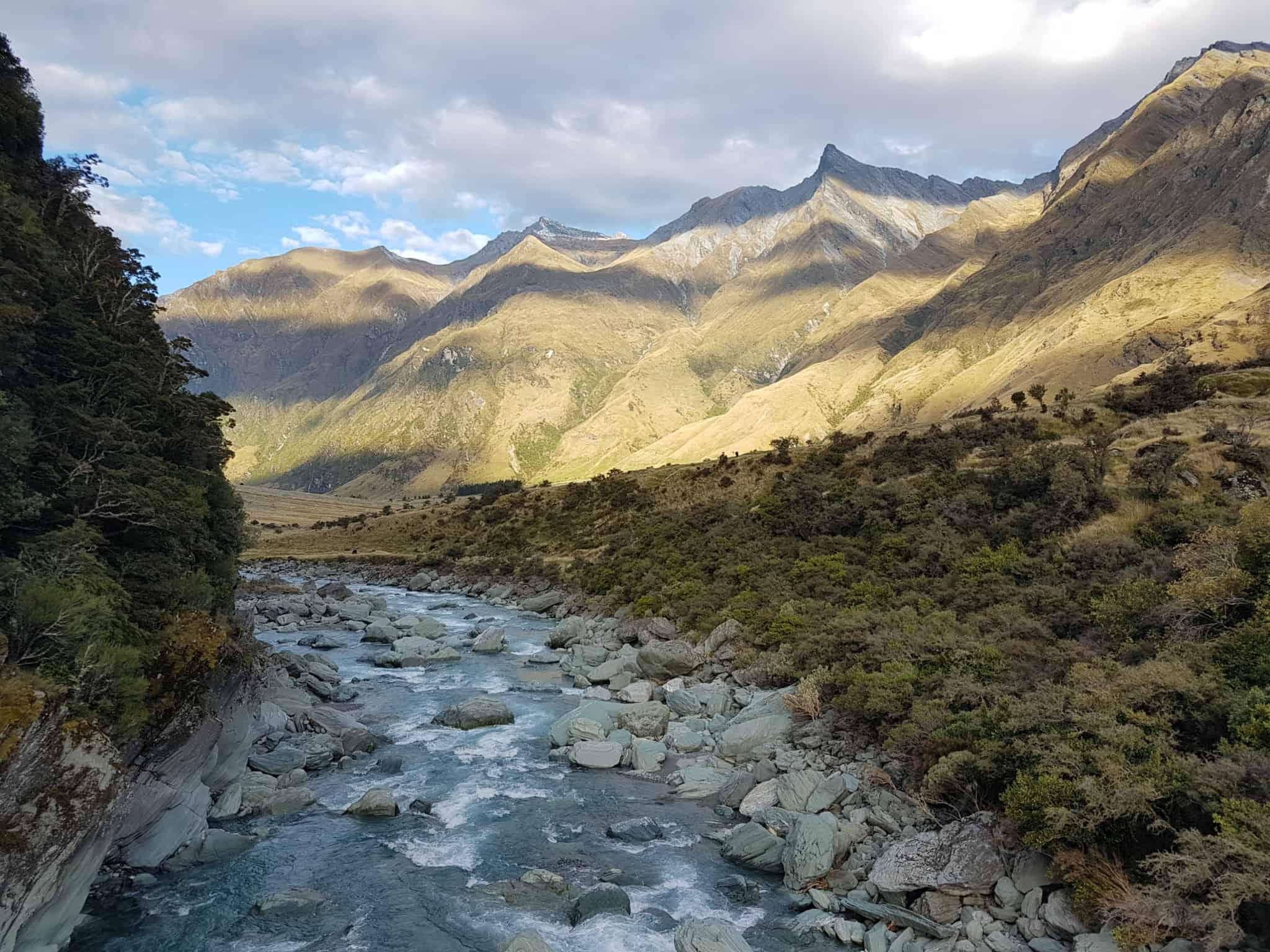 Nouvelle-Zélande, randonnée vers le Rob Roy Glacier et son sommet enneigé ❄ 25