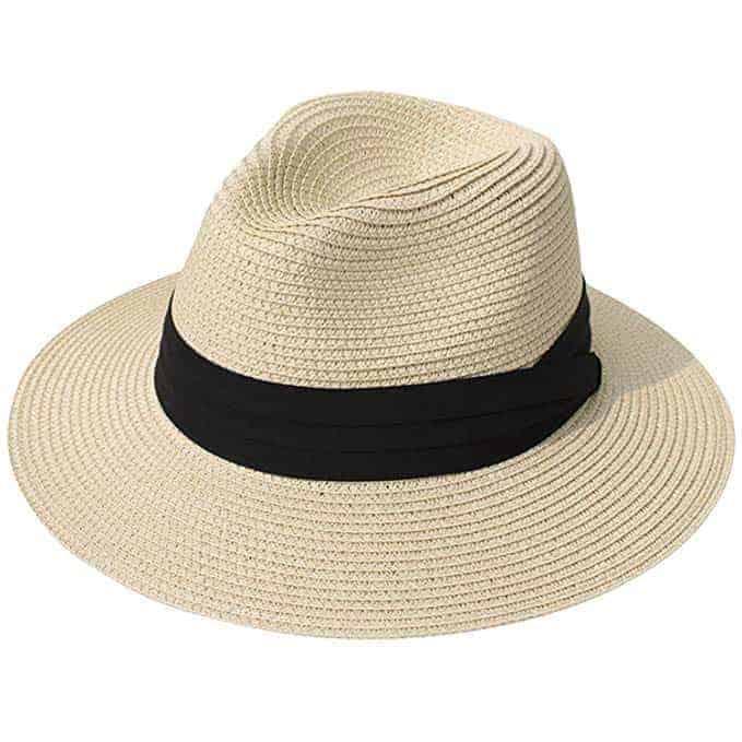 Chapeau de paille ajustable