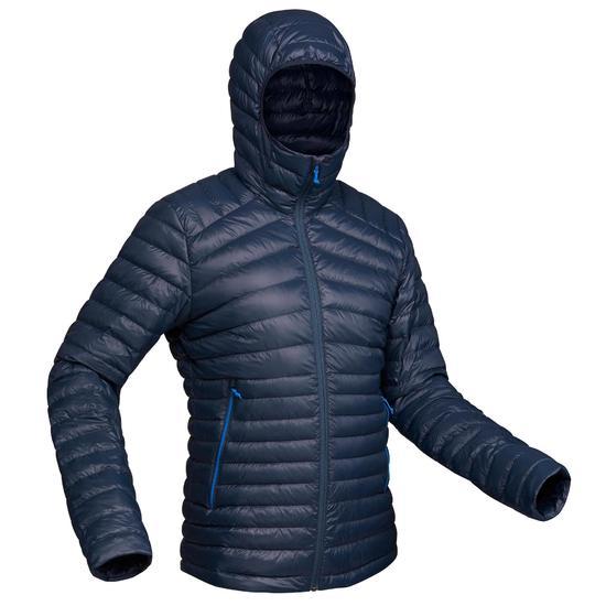 Doudoune+de+trek+montagne+TREK+100+DUVET+bleu+marine+homme