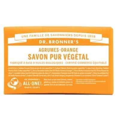 savon du Dr Bronner's citron-orange